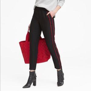 BANANA REPUBLIC Red Tuxedo Stripe Black Hayden
